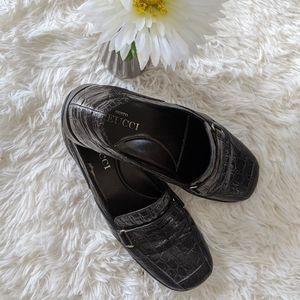 Sesto Muecci Women's Black Crocodile Loafer Size 7